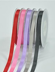 3/8 Inch Polyester Color Buty Belt Printing Ink Dot Five Oblique Dot Ribbon- 25 Yards Per Roll (More Colors)