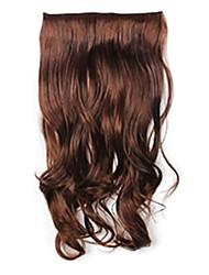 Clipes venda quente colorida Colour Bar atacado da menina do cabelo de extensão Kinky Onda Onda de Beleza