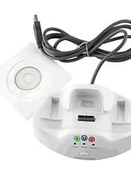 2 in 1 Wireless Receiver + Charger Dock Station for Microsoft Xbox 360 PC Game