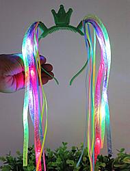 voyants lumineux s'allument tresses nouveauté tête plastique cerceau