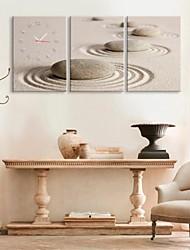 sabbia orologio rotondo pietra in tela di canapa 3pcs