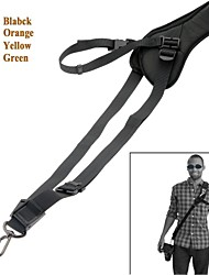 correa del cinturón negro correa de la cámara del hombro del cuello cabestrillo solo hombro para SLR DSLR-negro / naranja / amarillo / verde