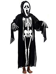 Aikami Halloween Skeleton Long Cape(with Screaming Mask+Skeleton Gloves)_2