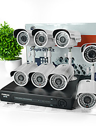 KAVASS® 8CH CCTV DVR Kit (P2P,H. 264, 8 Outdoor 800TVL HD Waterproof Color Cameras)