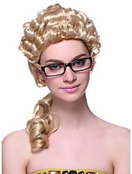 Elegant Laywer Long Golden 35cm Women's Halloween Cosplay Wig