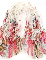 Ultralarge White  Bali Yarn Scarf Cotton Cape Spring And Autumn Long Design Autumn And Winter Women's Scarf