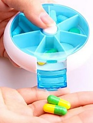 Health Care 7 Slot Multilayer Portable Small Pill Case