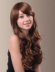 Fashionable and Sexy Woman Long Wavy Synthetic Wigs Side Bang(More Colors)