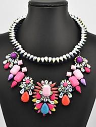 Women's Popular Multi Color Gem Necklace