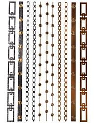 1pcs Schmuck inspiriert Runde Armband Ring metallischen Gold und Silber Tattoo-Aufkleber-temporäre Tätowierung