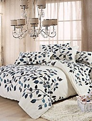 Manmer® Duvet Cover Set,Super Soft Skin-friendly Sanding Active Printing Bedding A Family Of Four Full
