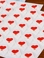 cuore del modello del fumetto diy sticker foto angolo protettore (24 autoadesivi / pz)