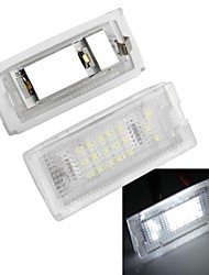 2pcs / lot lampadine targa auto bianco 18 led luci 12v per bmw mini cooper R50 R52 R53