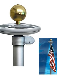 20-LED op zonne-energie Garden Decor Light Top Flag Pole Vlaggenmast Landschap Lichteffecten