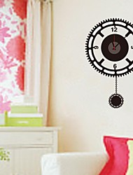 ZOOYOO®  Electronic battery music timekeeper DIY round shape wall sticker home decor for you living room