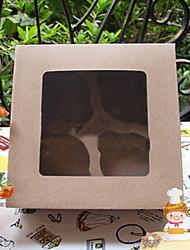 puros kraft de papel para pasteles cajas del favor con 4 controles