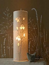 lámpara de pie 1 luz modelo floral pantalla de pergamino 220v