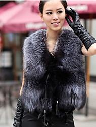 zuoge женщин роскошный короткие рукавов шуба