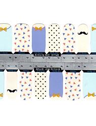 5x14pcs mooie schattige multicolor cartoon nail art stickers