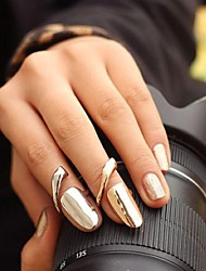 Lureme®Metallic Fingernail Alloy Ring