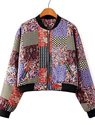Women's Floral Print Cut Jacket