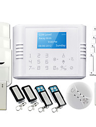 NEW LCD Intelligent Wireless GSM/PSTN Home Security Alarm System with Touch Keypad GS-180E