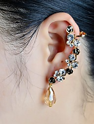 Fashion Stone Set Beads Drop Ear Cuffs