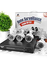 kavass® kit de vidéosurveillance 4 canaux DVR (p2p, h. 264, 4 480TVL extérieure imperméable caméras couleur)