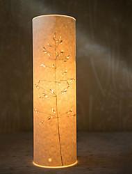lámpara de pie 1 luz modelo árbol pantalla de pergamino 220v retro