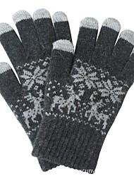 Natale cervi jacquard delle donne maglia guanti