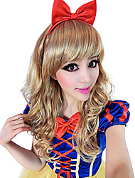 Lovely Snow White Long Curly Brown 55cm Women's Halloween Party Wig