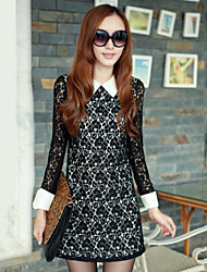 Xier Autumn Korean Lace Fitted Bodycon Dress