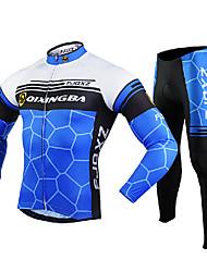 FJQXZ Maillot et Cuissard Long de Cyclisme Homme Manches Longues Vélo Collants Ensemble de Vêtements Garder au chaud Séchage rapide