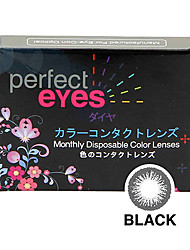 Perfect Eyes Color Monthly black (2 Lens /box)(Zero Degree)