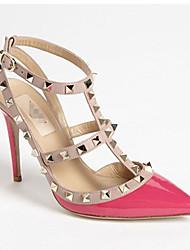 todos os sapatos stiletto jogo dedo apontado rebite Momo mulheres
