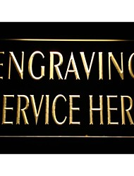 m078 Engraving Service Here Shop Neon Light Sign
