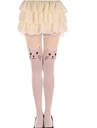 yeux des bas collants chat
