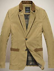 Men's Coats & Jackets , Polyester Bodycon/Casual Chunzheng