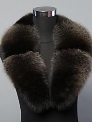 moda grigio vera genuina pelliccia di volpe collare di avvolgere sciarpa al collo delle donne scaldino