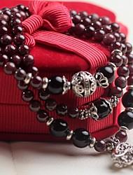 6mm Garnet Elephant Bracelet