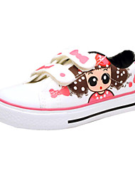 Girls' Shoes Comfort Flat Heel Canvas Fashion Sneakers with Magic Tape Shoes(More Colors)