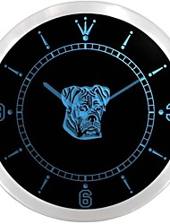 Boxer Dog Pet Animals Shop Display Neon Sign LED Wall Clock