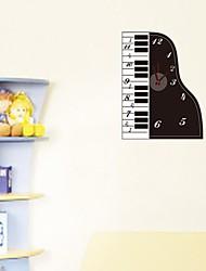 zooyoo® электронный хронометрист батареи DIY красочный форма фортепиано с маятником Настенные часы Настенные наклейки домашнего декора