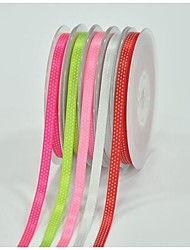 1/4 Inch Polyester Color Buty Belt Printing Ink Dot Three Oblique Dot Ribbon- 25 Yards Per Roll (More Colors)