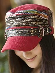 colorido cinturón de estilo étnico de las mujeres de la hebilla gorra plana