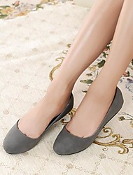 Women's Spring Fall Fleece Office & Career Dress Casual Flat Heel Black Brown Gray