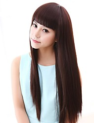 Long Cosplay Hair Synthetic Wig with Full Bang