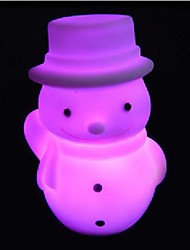 Coway Christmas Snowman LED Nightlight Necessary Christmas Gift Colorful