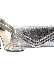 Scarpe Donna - Sandali - Formale / Serata e festa - Aperta / Scarpe e borse abbinate - A stiletto - Finta pelle - Beige
