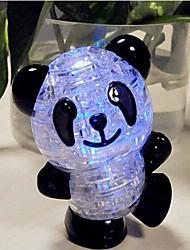 diy 3d puzzle di cristallo di plastica panda con flash